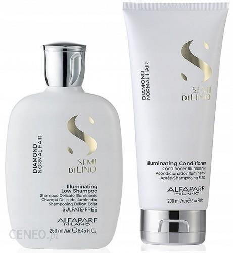 Alfaparf Illuminating rozświetlający zestaw do włosów normalnych szampon 250ml + odżywka 200ml