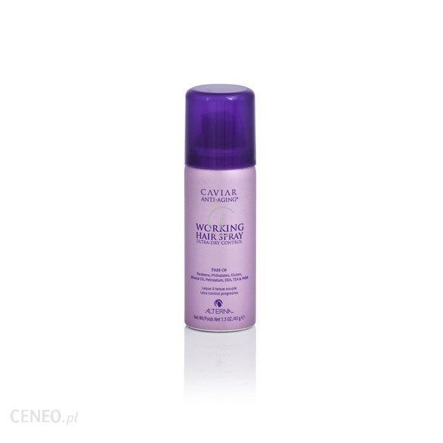 ALTERNA Caviar Working Hair Spray Kawiorowy lakier o elastycznym utrwaleniu przywracający włosom zdrowy i młody wygląd 43g