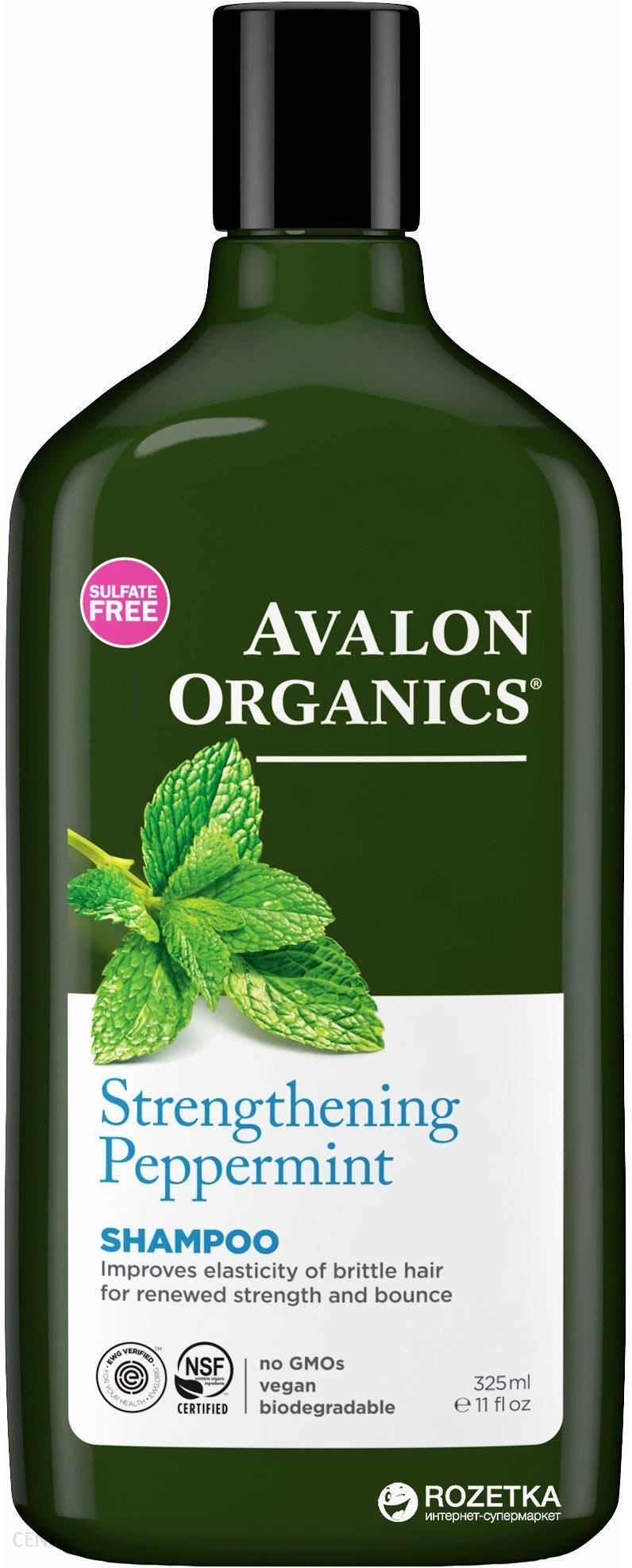 Avalon Organics Szampon miętowy wzmacniający 325ml