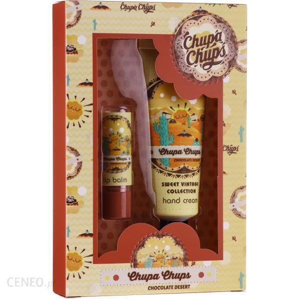 BiEs Chupa Chups Sweet Vintage Collection Chocolate Dessert Krem do rąk 50ml + Balsam do ust