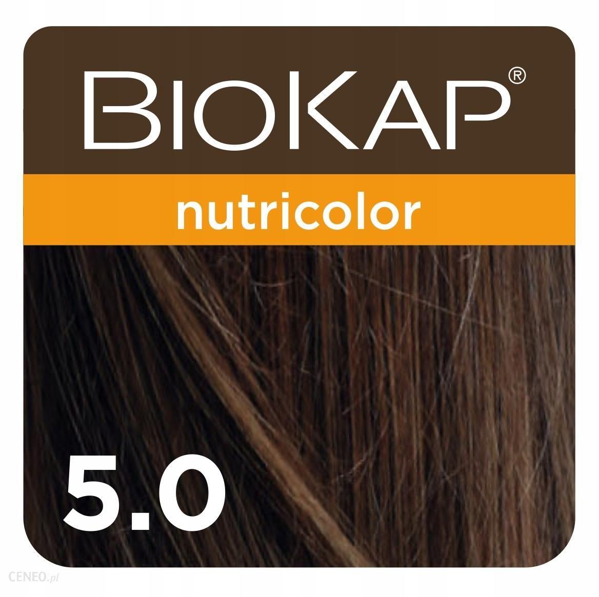 Biokap Nutricolor Farba Koloryzująca Do Włosów Kolor 5.0 Jasny Brąz 140ml