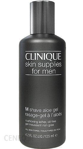 Clinique Skin Supplies For Men Shave Aloe Gel Pianka do golenia dla mężczyzn Wszystkie typy skóry 125ml