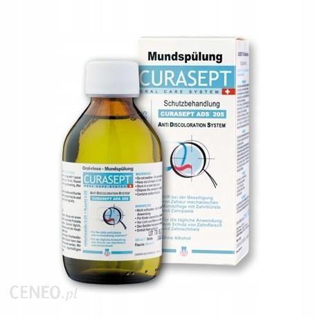 CURASEPT ADS 205 - Płyn do płukania jamy ustnej z chlorheksydyną 0.05% i fluorem 200ml