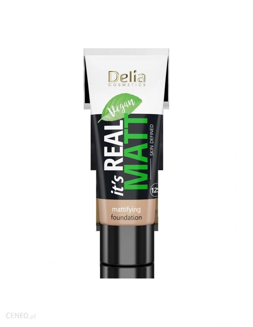 Delia Cosmetics It's Real Matt Podkład matujący odżywczo-nawilżający nr 106 Coffee 30ml