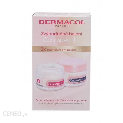 Dermacol Collagen+ Spf10 Zestaw Krem Na Dzień Collagen+ Rejuvenating Spf10 50ml + Krem Na Noc Collagen+ Rejuvenating 50ml