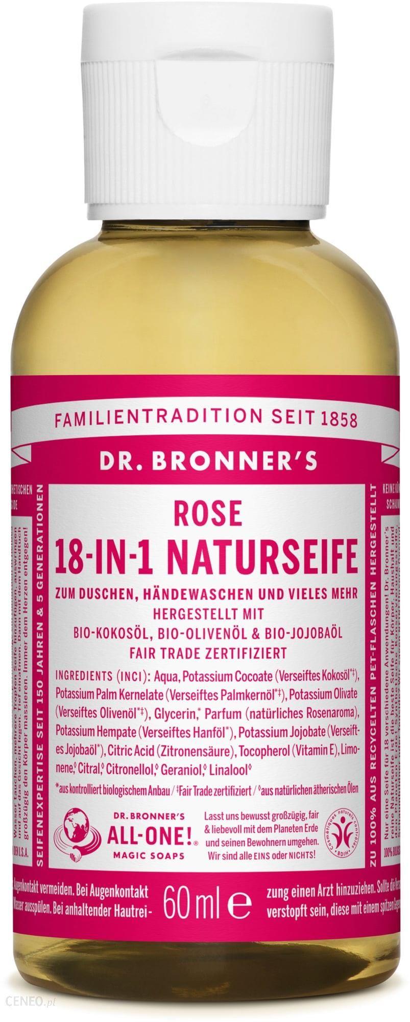 Dr. Bronner'S 18W1 Naturalne Mydło Z Różą 120 Ml