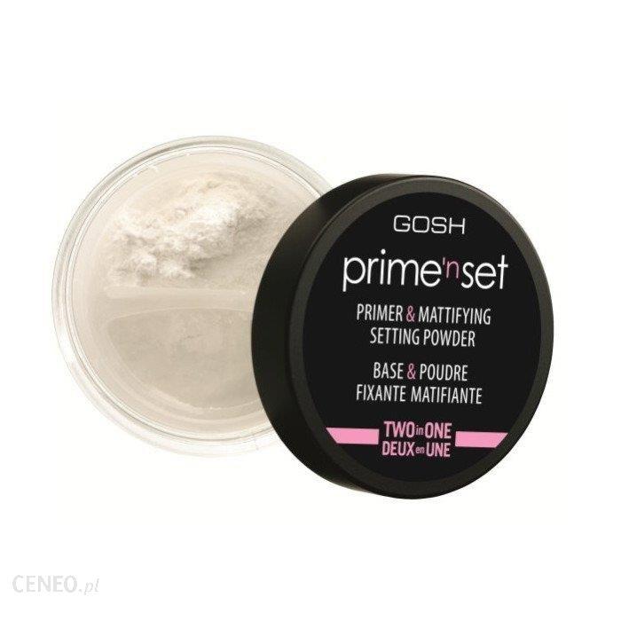 GOSH Prime'n set Primer & Mattifying Setting Powder Fiksująco-matujący puder/baza do twarzy 8g