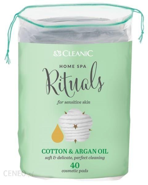 Harper Hygienics CLEANIC Płatki kosmetyczne Cotton & Argan Oil 40szt.