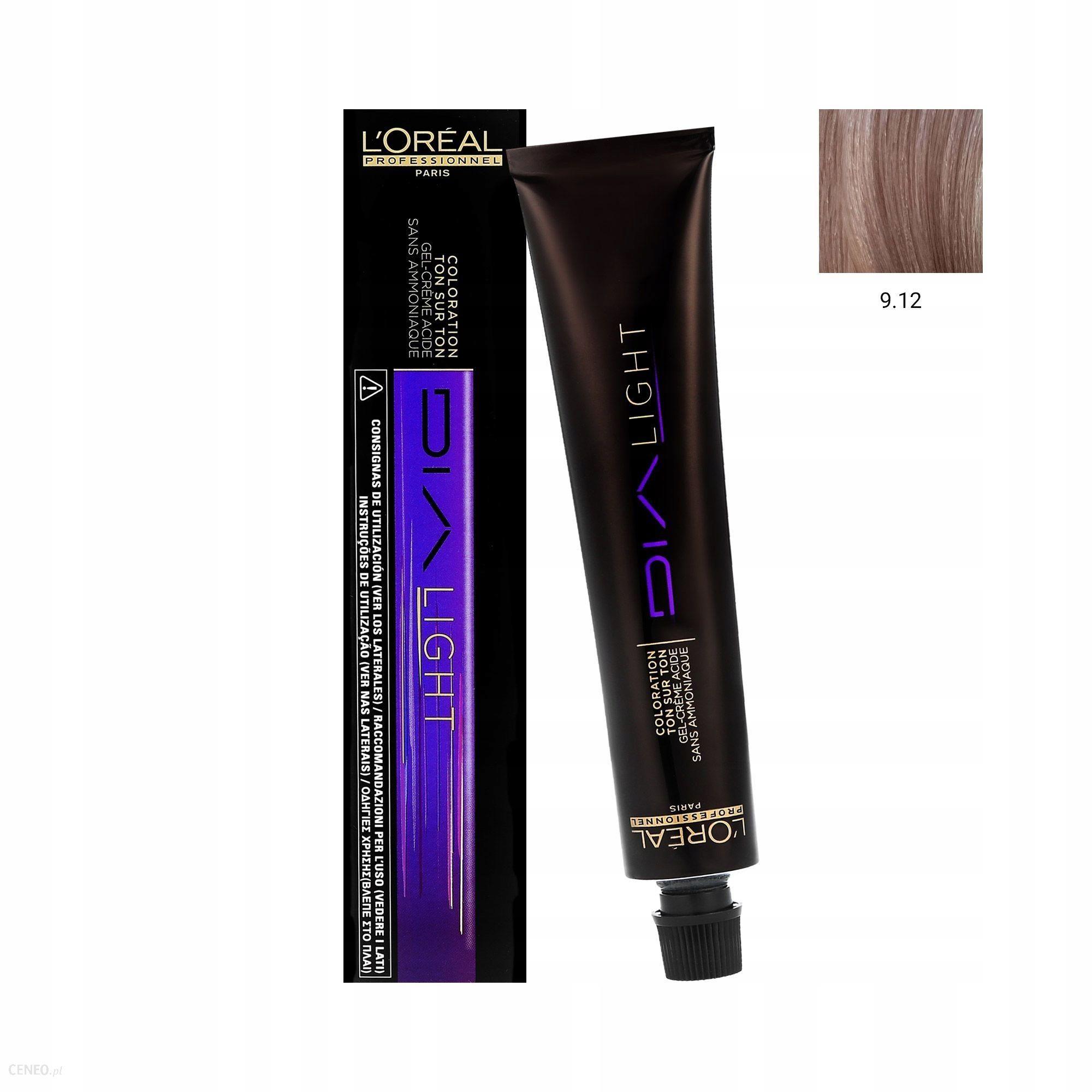 L'Oreal Dia Light Koloryzacja Ton W Ton Bez Amoniaku Do Włosów Koloryzowanych I Uwrażliwionych 9.12 Bardzo Jasny Blond Popielato-Opalizujący 50Ml