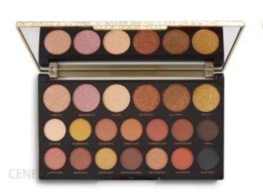 Makeup Revolution Jewel Collection Paleta cieni do powiek 18gilded Gold