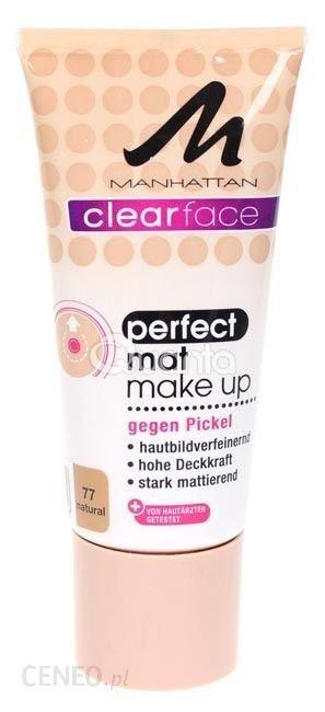 Manhattan Clearface Perfect Mat Make Up Fluid matujący 77 Natural