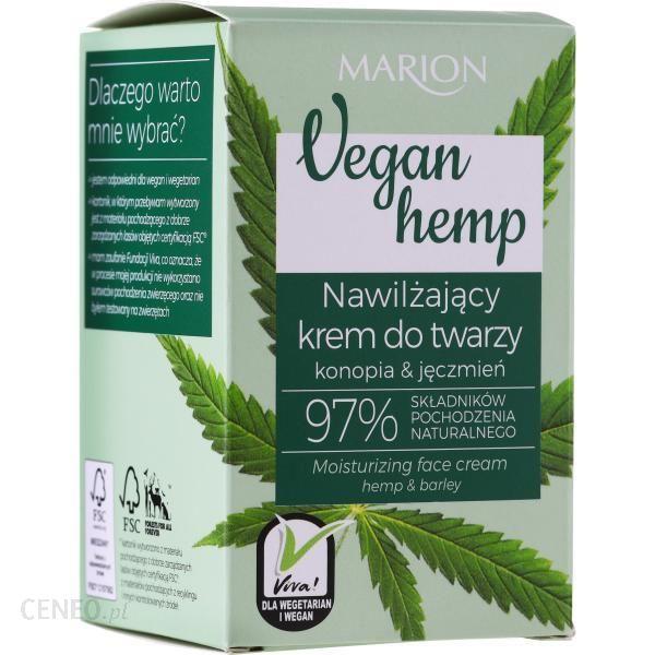 Marion Nawilżający Krem Do Twarzy Vegan Hemp Moisturizing Face Cream Hemp & Barley 30Ml
