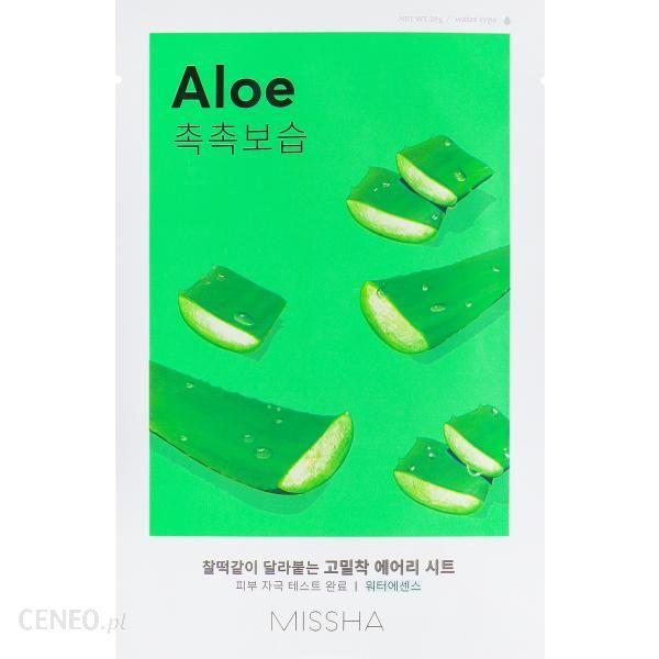 Missha Airy Fit Aloe maseczka płócienna o działaniu silnie nawilżajacym i odżywczym 19g