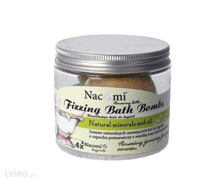Nacomi Fizzing Bath Bombs Zestaw Kul Do Kąpieli 2X Orange-Vanilla Ice Cream + 2X Refreshing Green Tea 330G