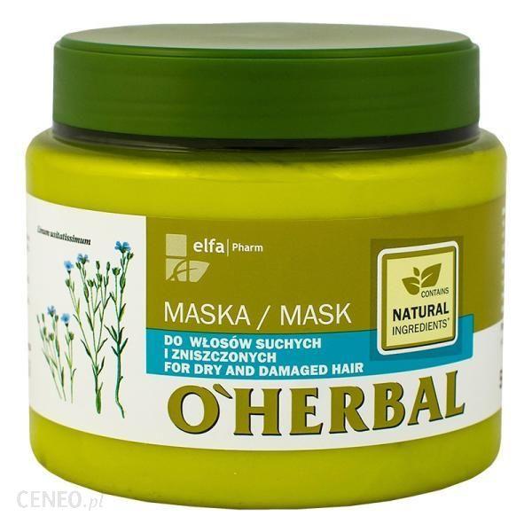 Oherbal Maska do Włosów Suchych i Zniszczonych z Ekstraktem z Lnu 500ml