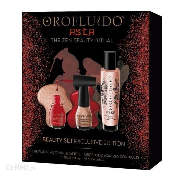 Orofluido Beauty Set Exclusive Edition Eliksir Asia 50ml + 2 Lakiery Do Paznokci 15ml