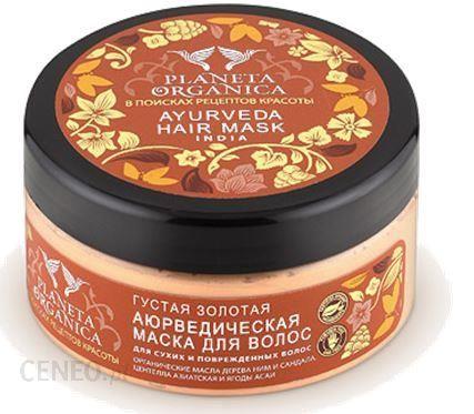 Planeta Organica Organiczna złota maska do włosów. Ajurwedyjska gęstość 300ml