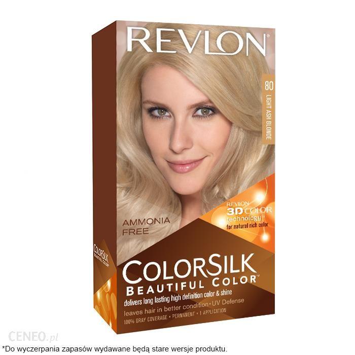 REVLON ColorSilk farba do włosów jasny popielaty blond 80