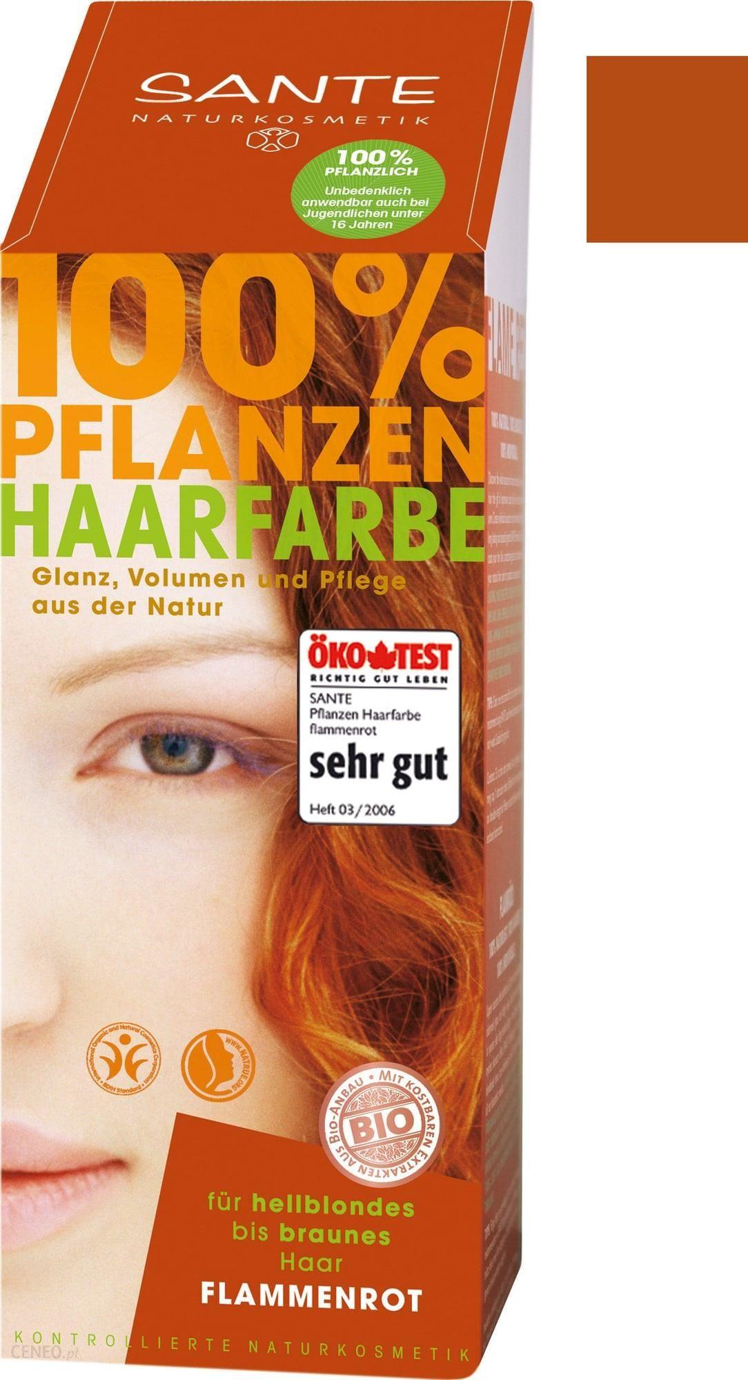 Sante Farba roślinna do włosów płomienna czerwień 100 g