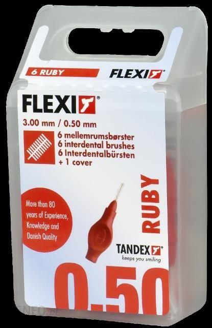 Tandex Flexi SuperFine - Szczoteczki czerwone