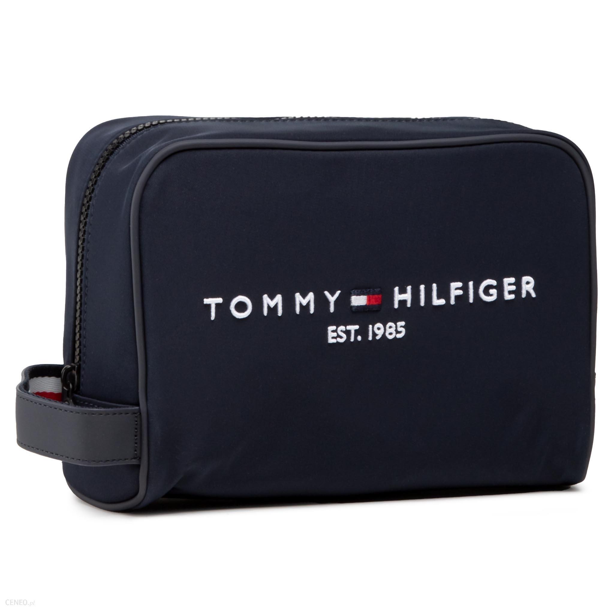 TOMMY HILFIGER KOSMETYCZKA - TH ESTABLISHED WASHBAG AM0AM07306 BLU